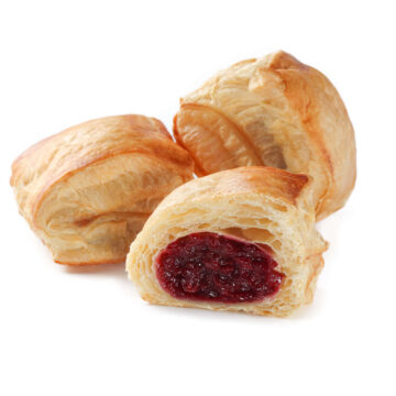 Пиріжки з вишнею із листкового тіста можна замовити онлайн з доставкою додому або офісу в усіх містах, де представлені фірмові магазини компанії Еліка